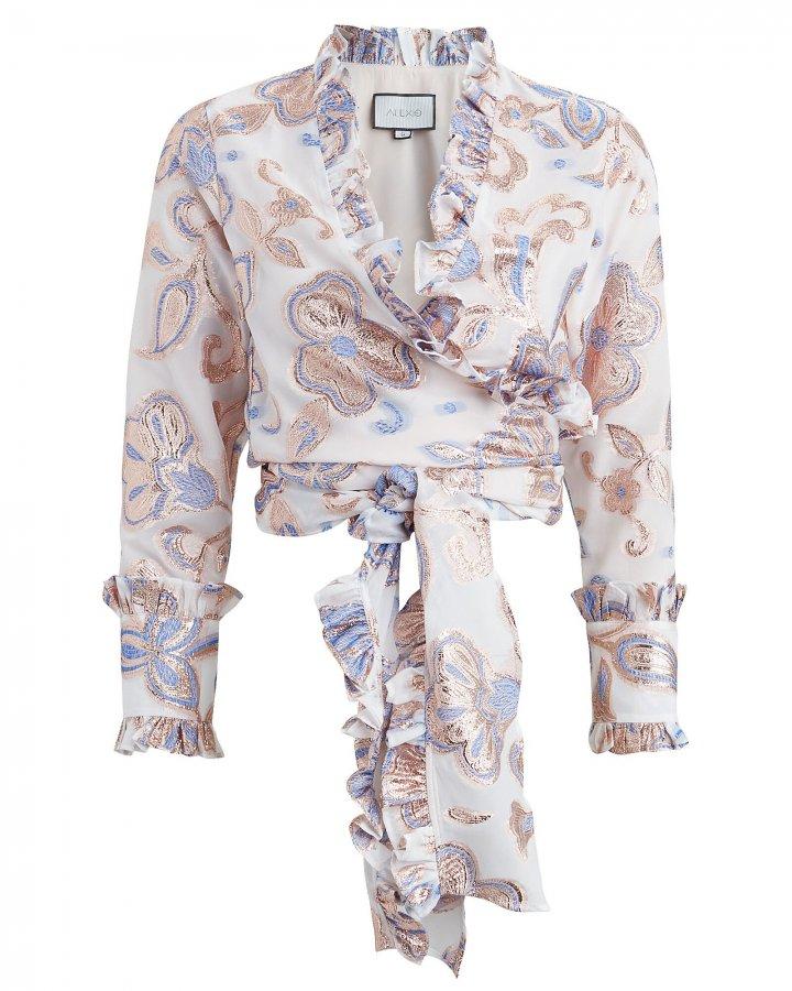 Marceau Tie Wrap Floral Top