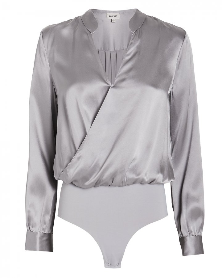 Marcella Silk Charmeuse Bodysuit