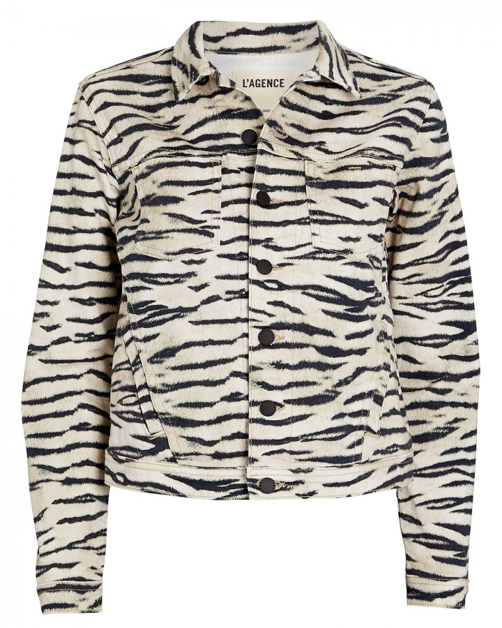 Celine Tiger Stripe Denim Jacket