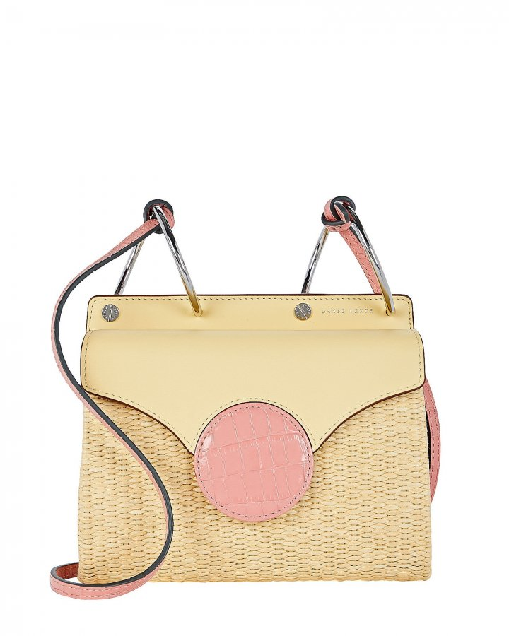 Mini Phoebe Raffia Folio Bag