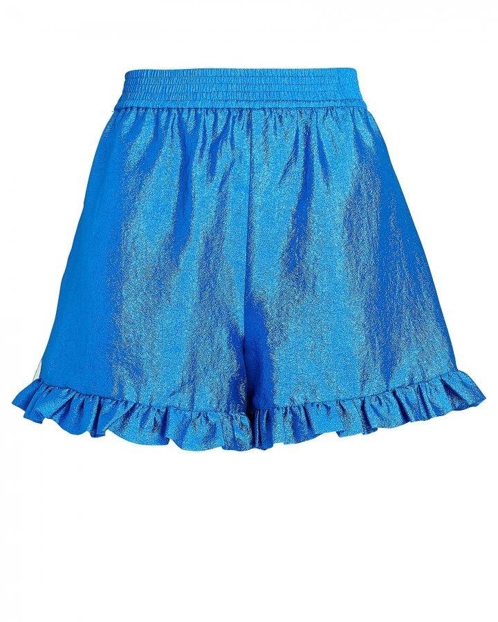 Joselyn Ruffled High-Waist Shorts