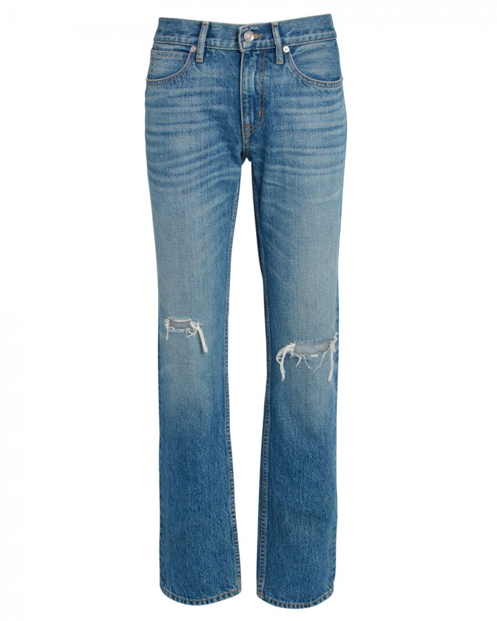 Tyler Distressed Straight-Leg Jeans