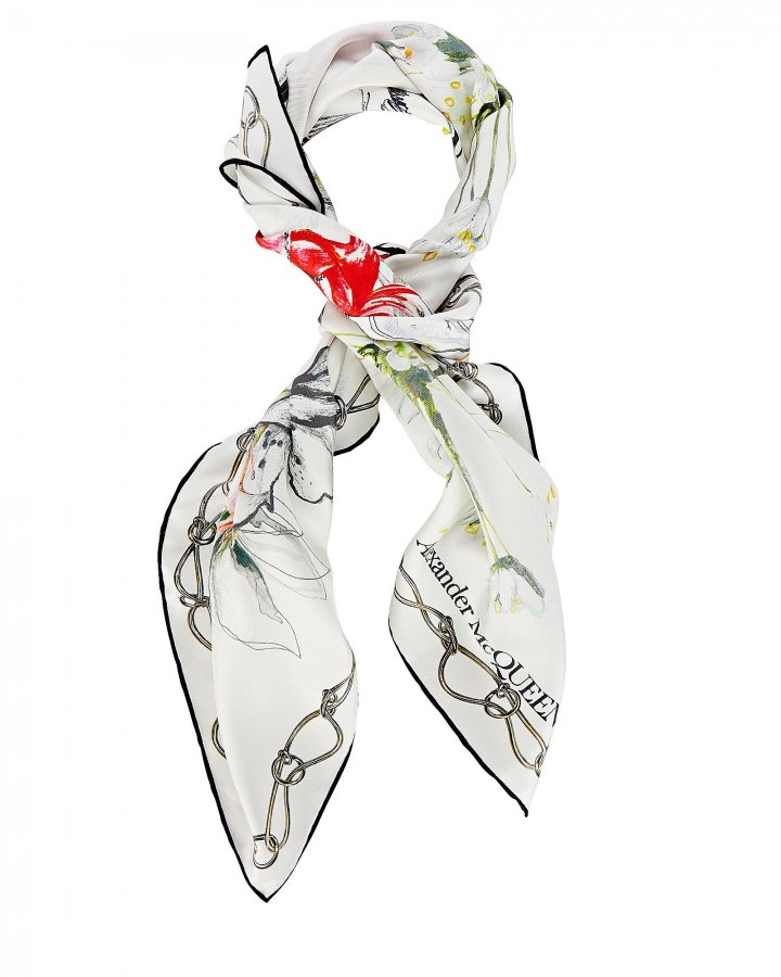 Endangered Flower Silk Square Scarf