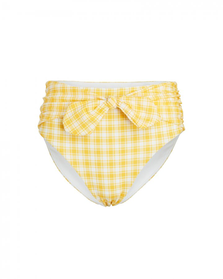 Azoia Gingham Tie Bikini Bottoms