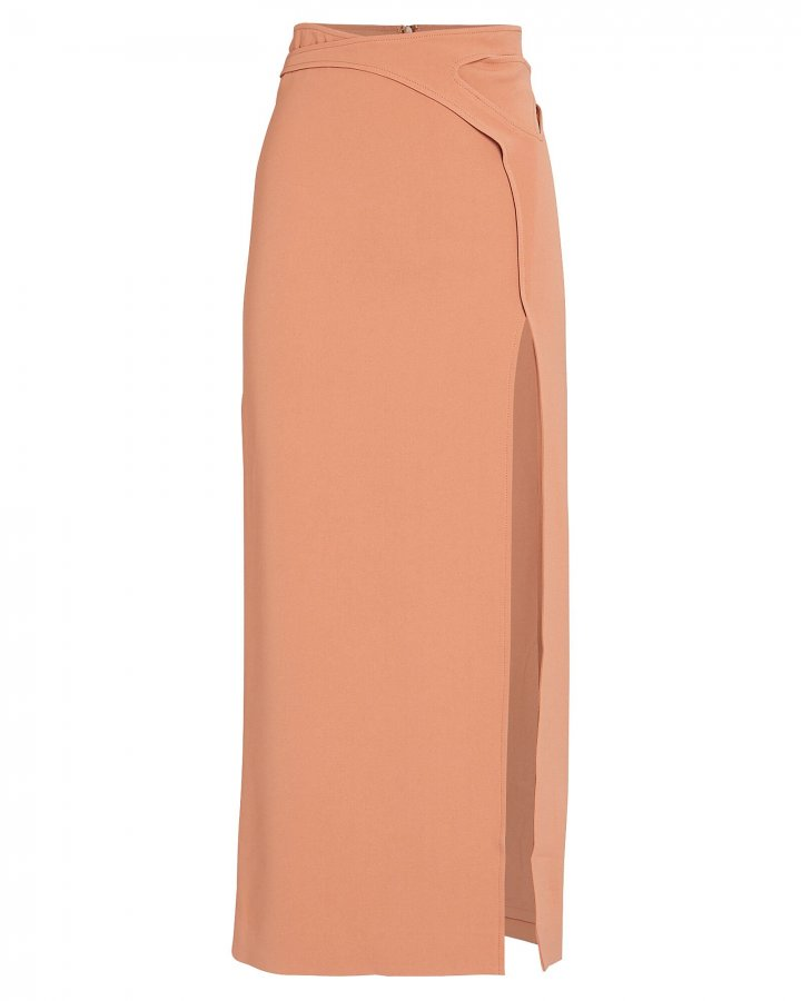 Interlock High Slit Skirt
