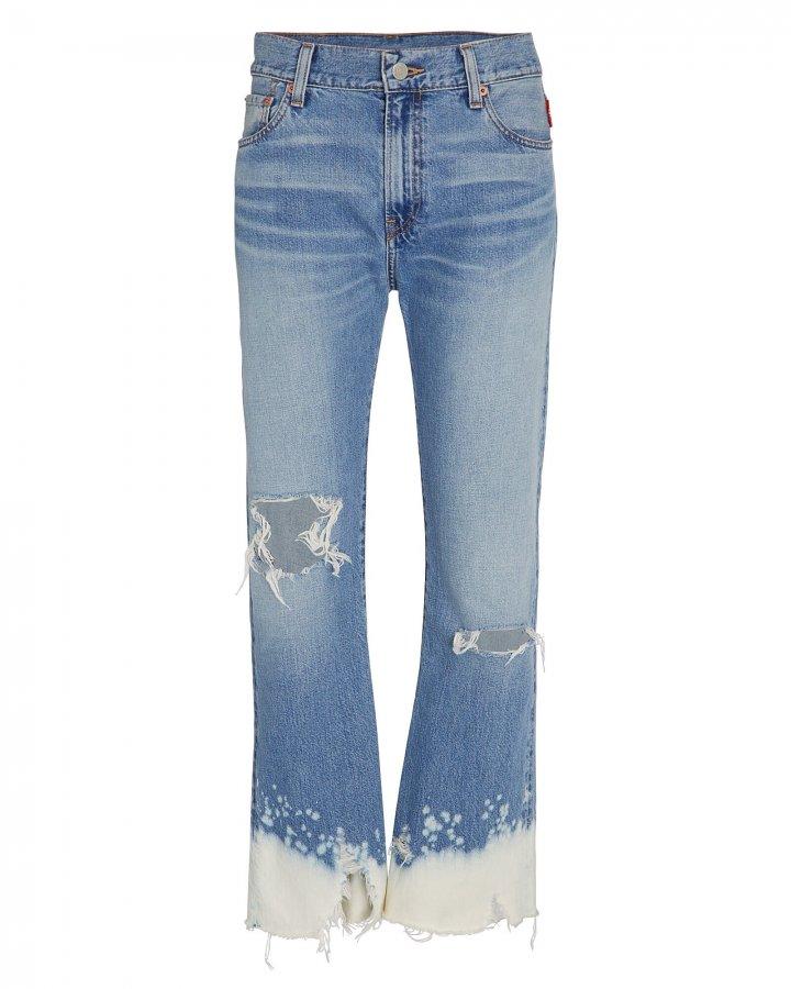 Joni Cropped Dip Dyed Jeans