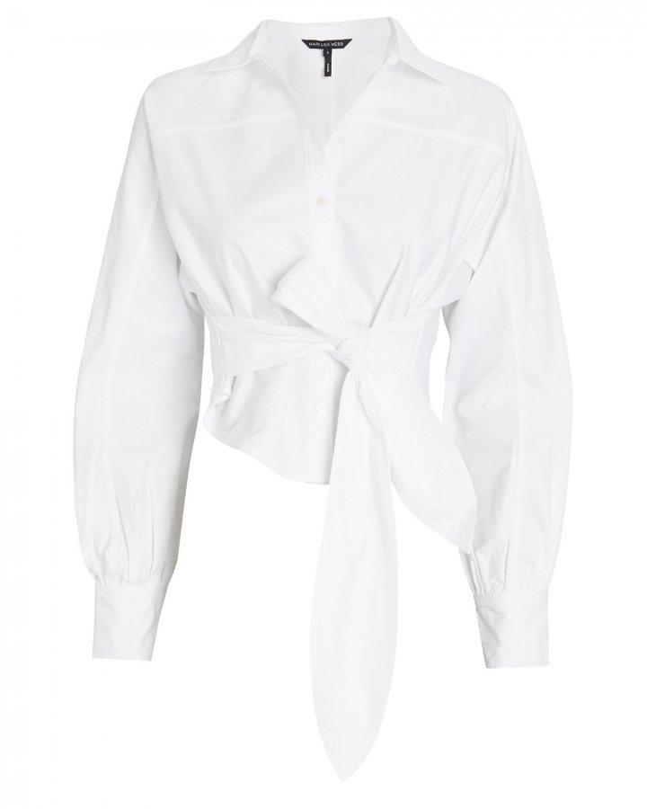 Emmerson Tie-Waist Oxford Shirt