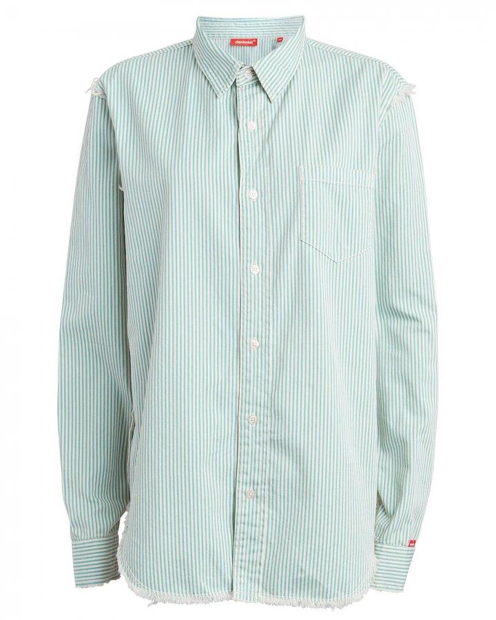 Frayed Cotton Twill Shirt
