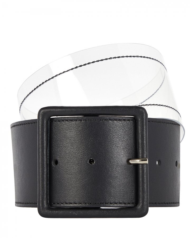 Tinmarie Leather-Trimmed PVC Belt