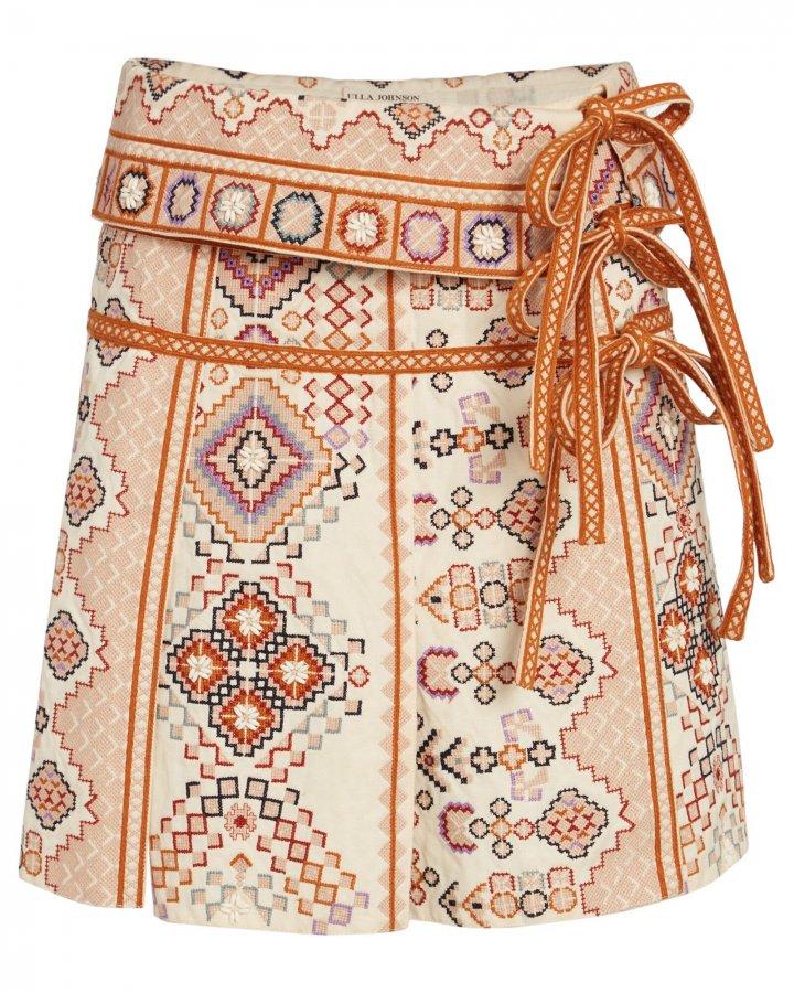 Shaia Embroidered Mini Skirt