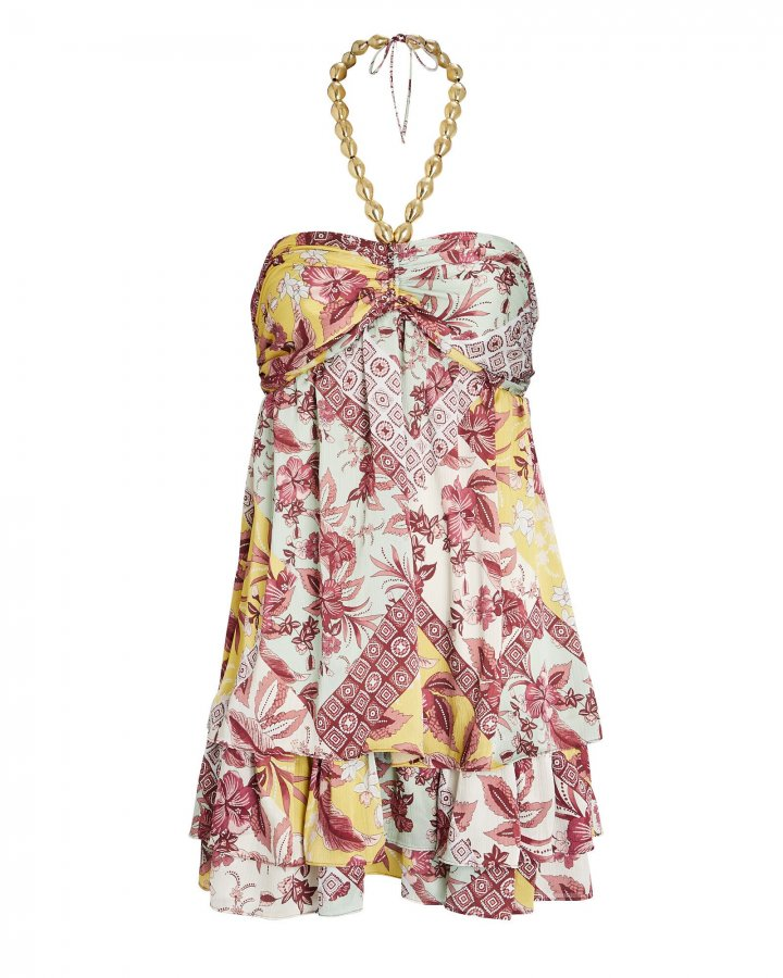 Irati Floral Halter Dress