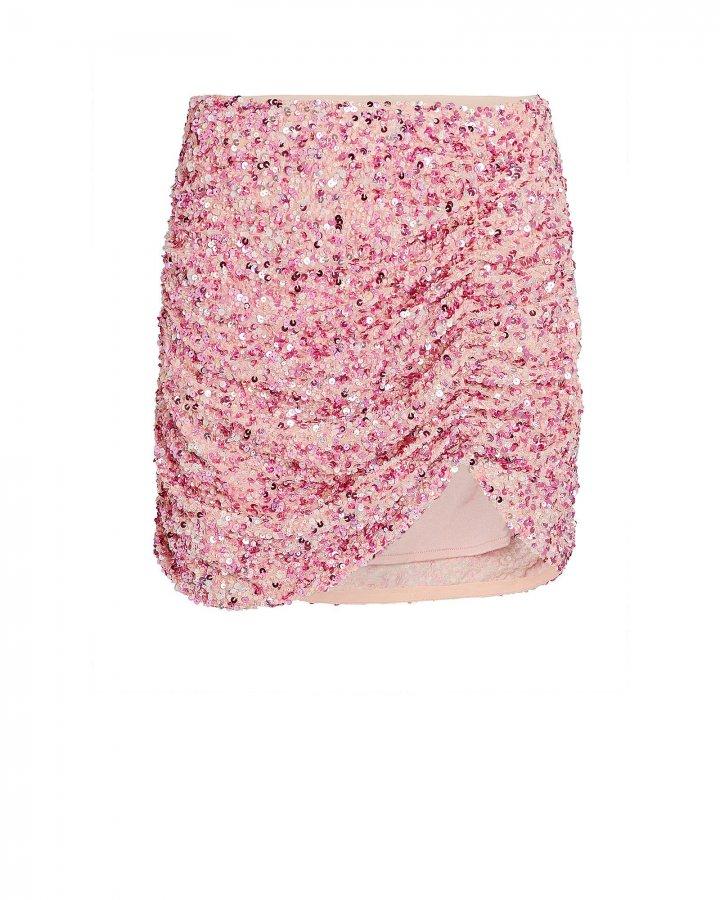 Celestia Ruched Sequin Skirt