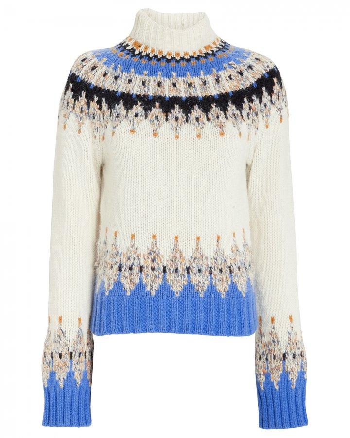 Justine Fair Isle Turtleneck Sweater