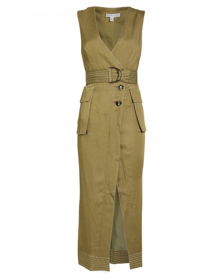 Ellington Wrap Twill Dress