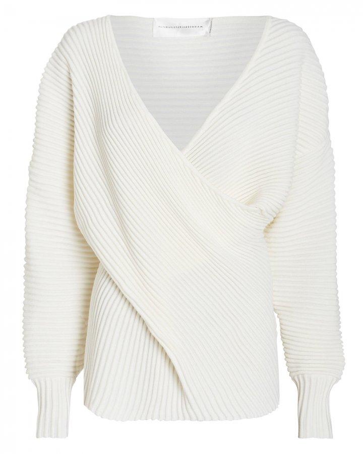 Draped Merino Wool Sweater