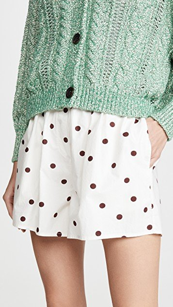 Printed Cotton Poplin Shorts