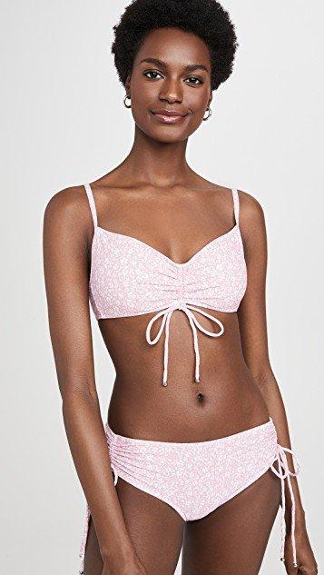 Alina Floral Smocked Bikini Top