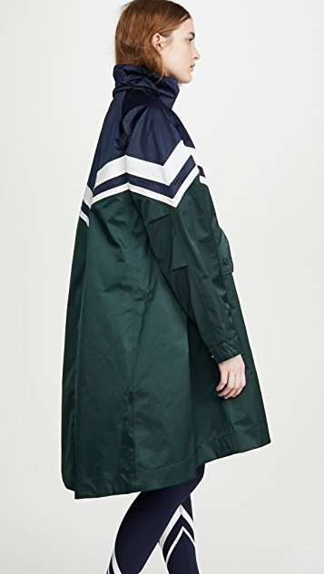 Performance Colorblock Chevron Parka