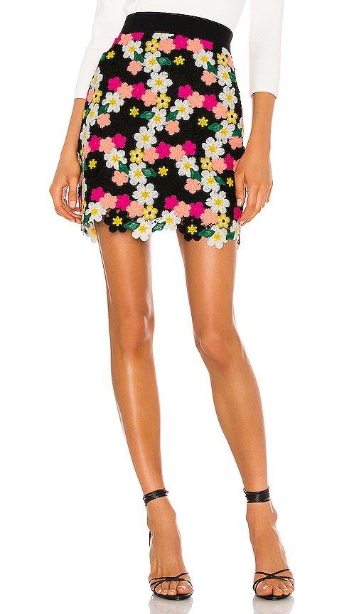 Floral Crochet Mini Skirt