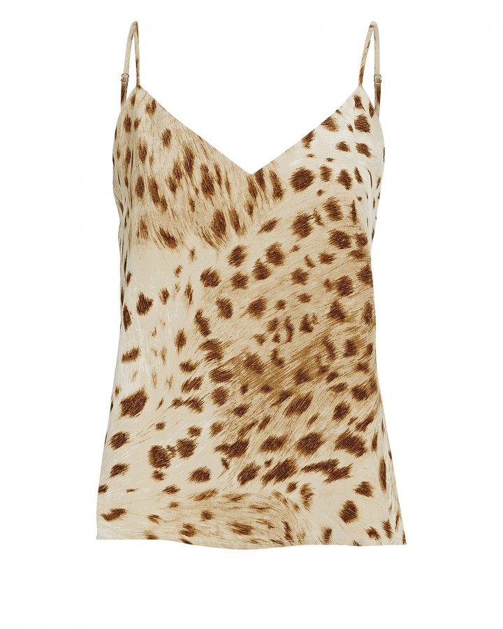 Jane Leopard Print Silk Camisole