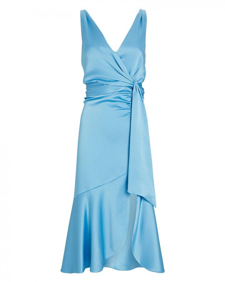 Mia Satin Wrap Dress