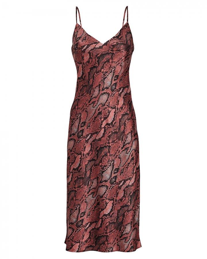 Jodie Python Slip Dress