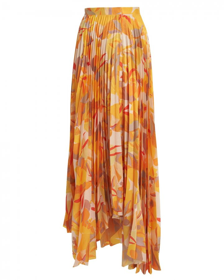 Hooper Pleated Maxi Skirt