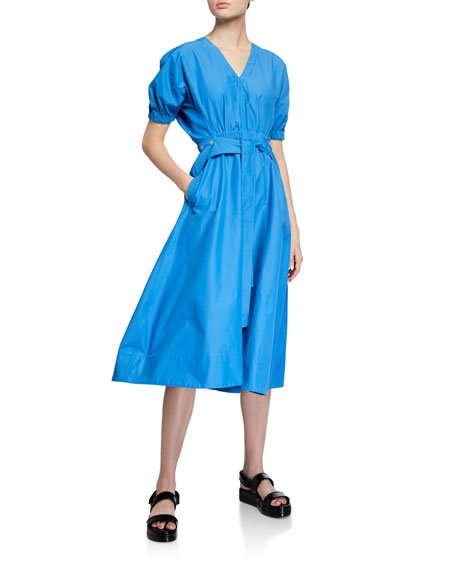 Utility Belted Dress with Gathered Detail