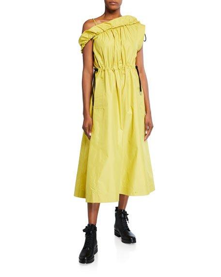 Cold-Shoulder Parachute Utility Dress