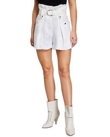 Buxy Belted Paperbag Shorts