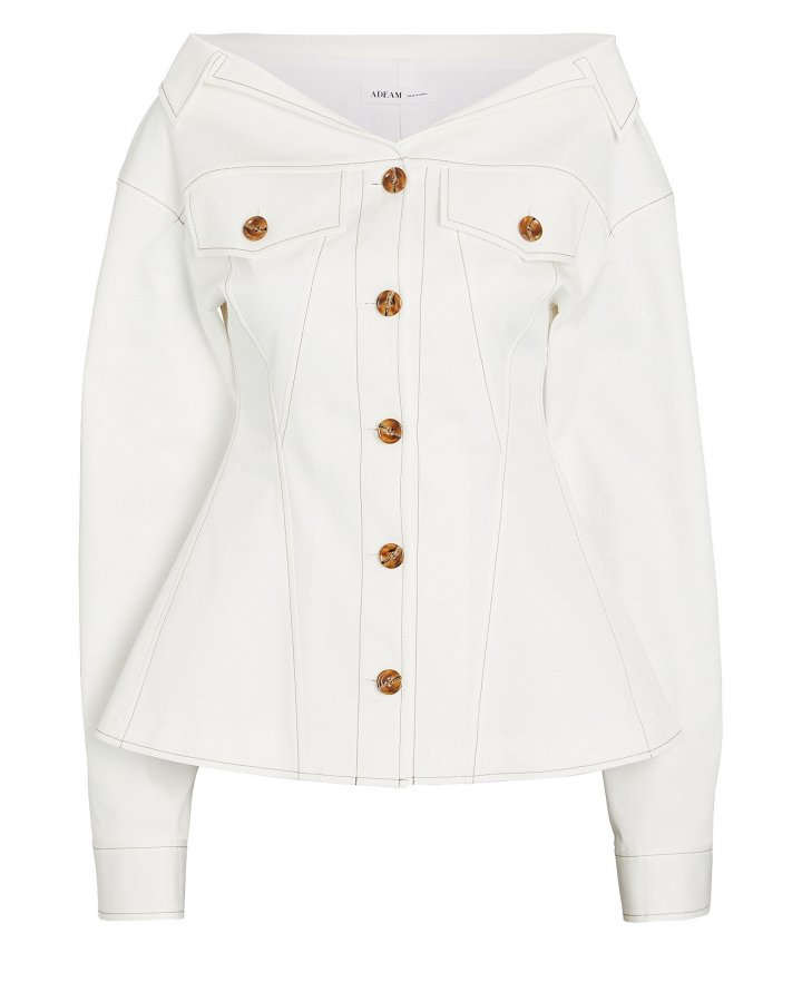 Bustier Denim Jacket