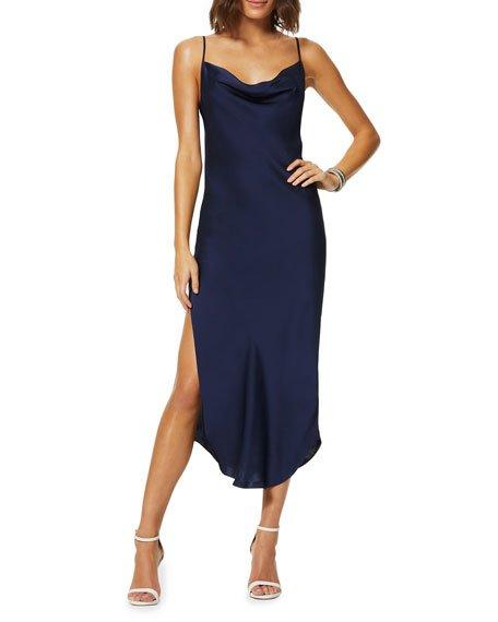 Rome Cowl-Neck Slip Dress