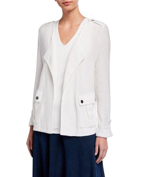 Plus Size In Flight Linen Jacket
