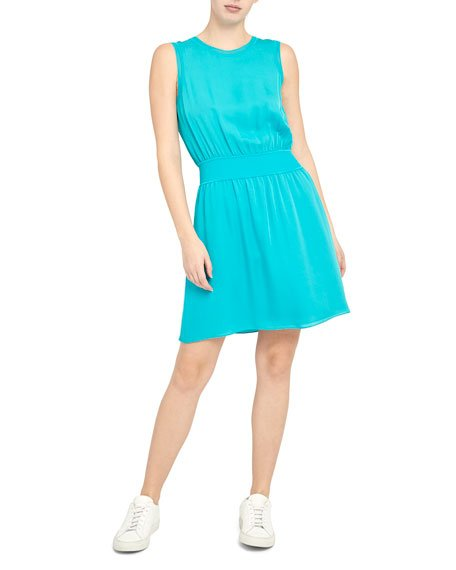 Rib-Trim Dress