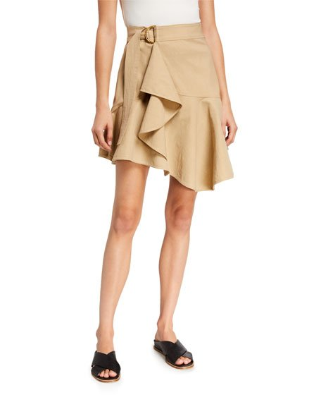 Amalie D-Ring Flounce Skirt