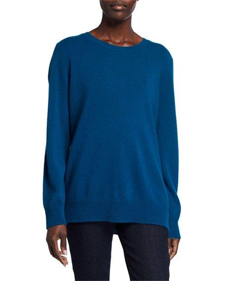 Plus Size Basic Cashmere Crewneck Sweater
