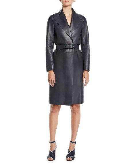 HARTLEY LEATHER TRENCH COAT