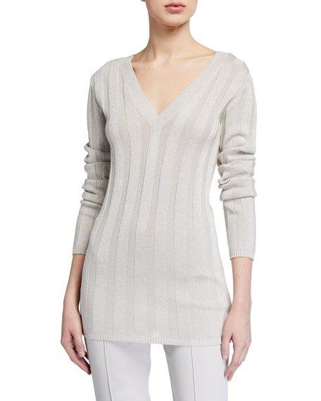 Metallic Cotton Sweater