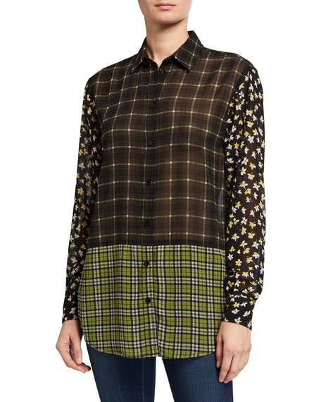 Long-Sleeve Tartan Combo Shirt