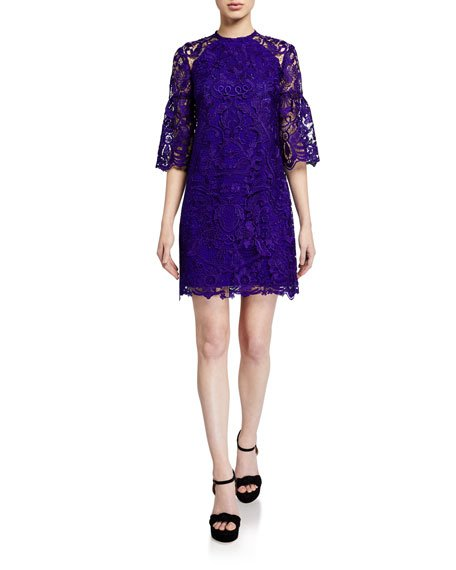 Broome Floral Lace Short Dress