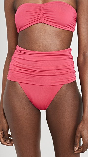 Dropped High Waist BIkini Bottoms