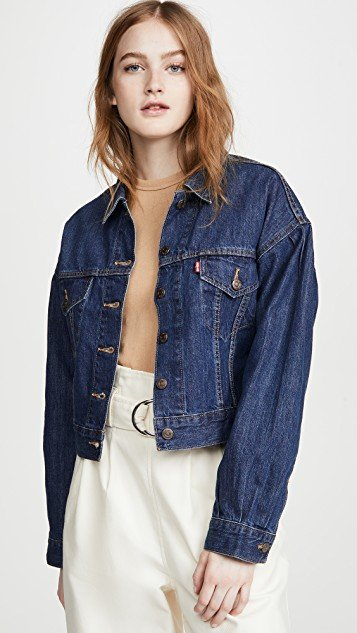 Pleat Sleeve Trucker Jacket