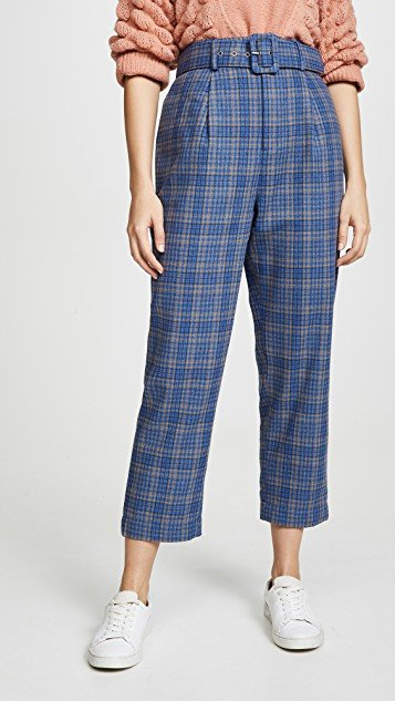 High Rise Belted Pants