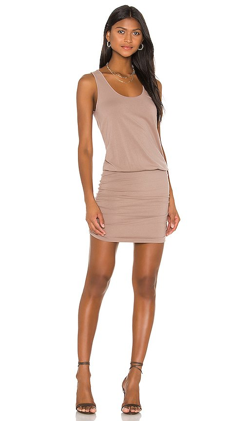 Draped Modal Jersey Mini Dress