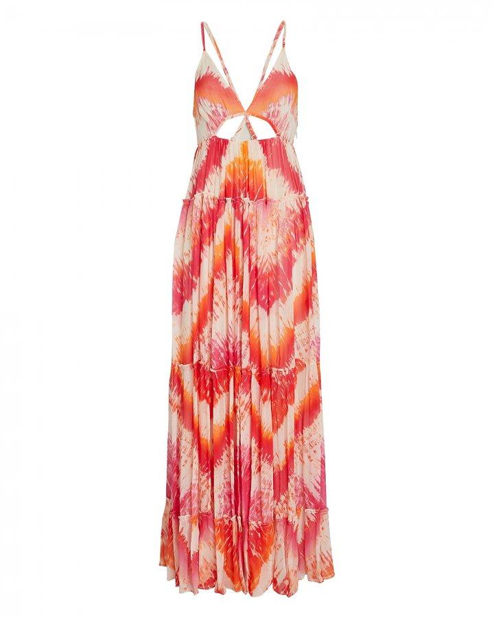 Tie-Dye Chiffon Maxi Dress