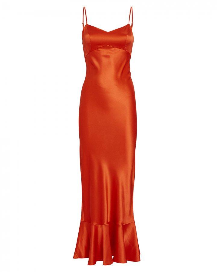 Mimi Silk Charmeuse Midi Dress