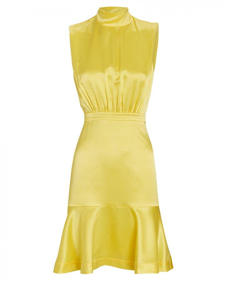 Fleur Silk Knee-Length Dress