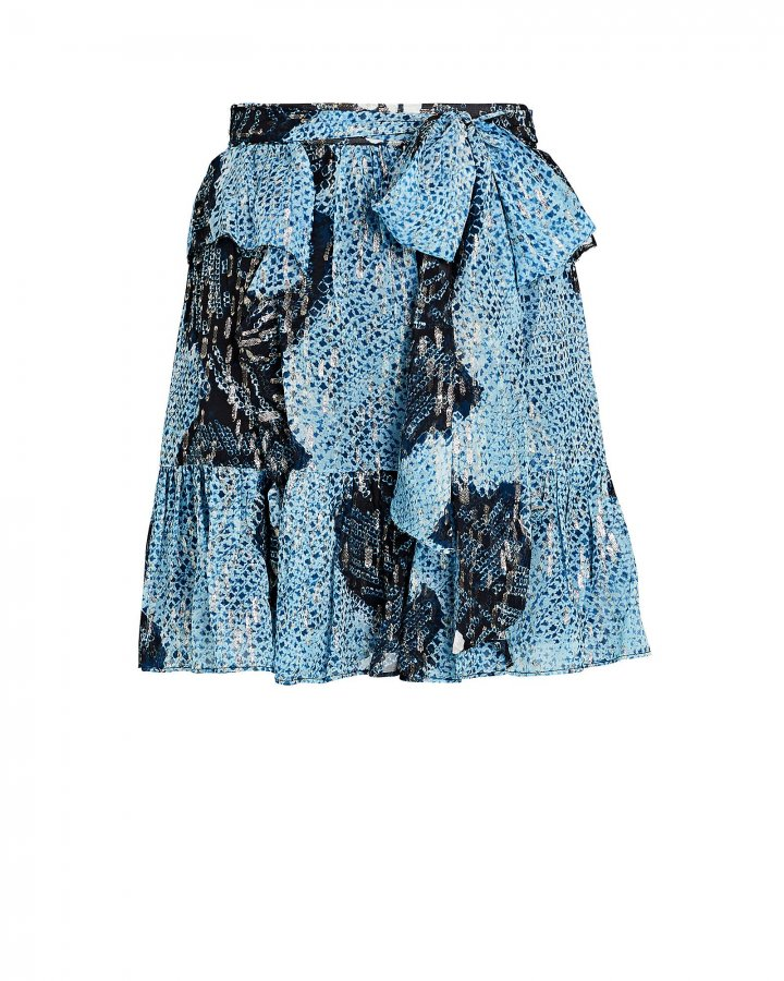 Zea Silk-Lurex Mini Skirt