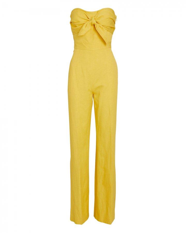 Alene Strapless Tie-Front Jumpsuit