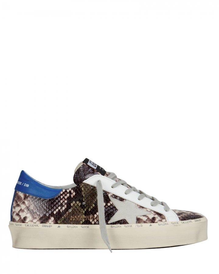 Hi Star Snakeskin Embossed Sneakers